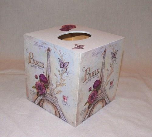 """Krabička na kapesníky - \""""PARIS\"""""""