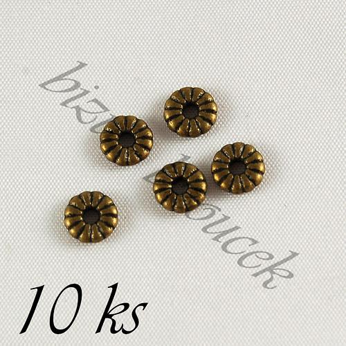 Mezidíl kroužek bronzové barvy - 10ks