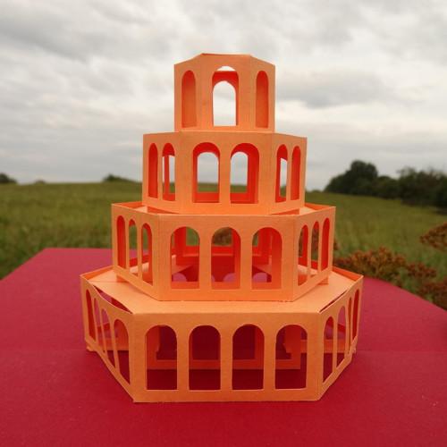 3D rozkládací přání - věž (3D03)
