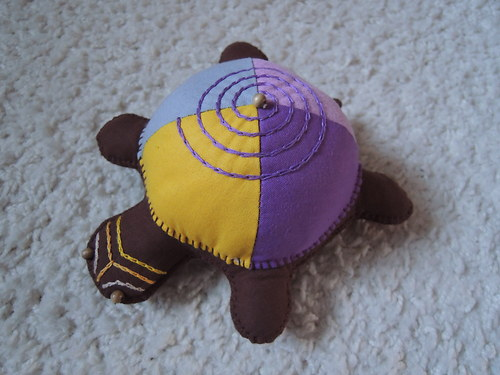 Africká želvička fialová