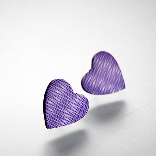 Fialová srdcovka