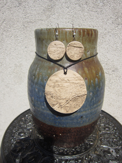 Krása prosté trávy ( náhrdelník a náušnice )
