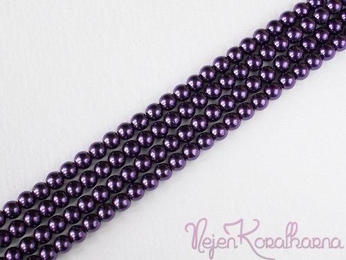Voskové perle fialová 4mm