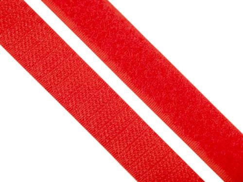 Suchý zip, 20mm, barva červená