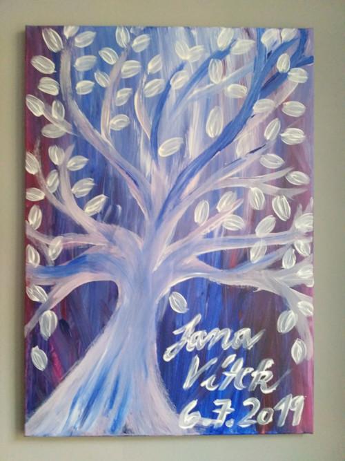 Svatební strom na plátně