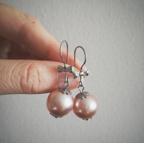 simple pearls II. - náušnice