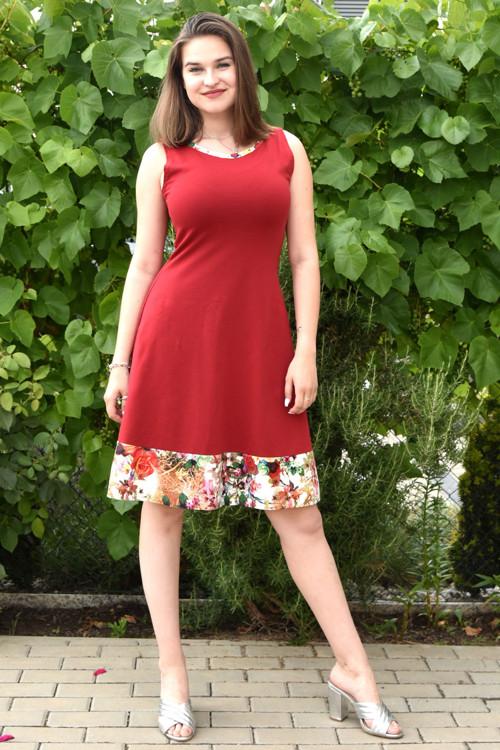 Letní šaty vínovočervené