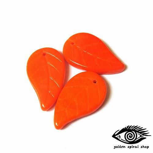 Lístky oranžové - 6 kusů