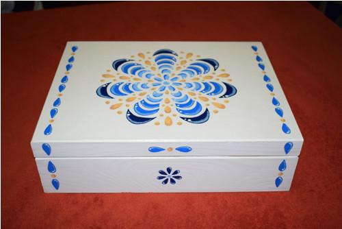Velká malovaná krabice na čaj - NA OBJEDNÁVKU