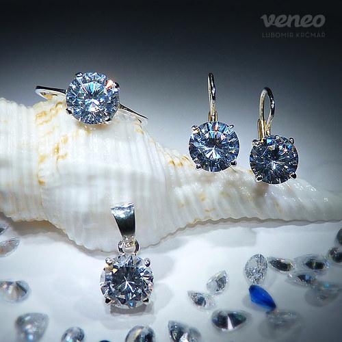 Diana 8 - sada šperků s čirými zirkony