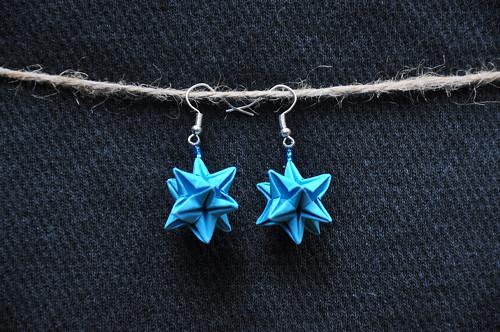 Ostnatá hvězda - origami náušnice