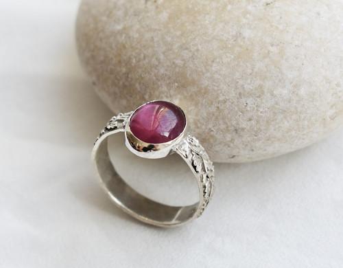 prsten rubín - Ag