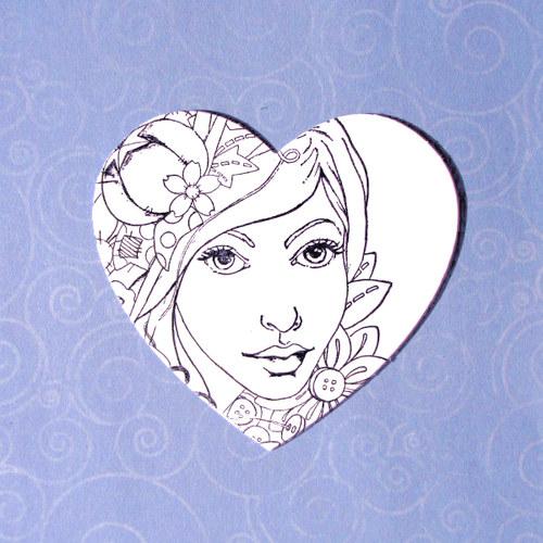 Srdce s dívkou