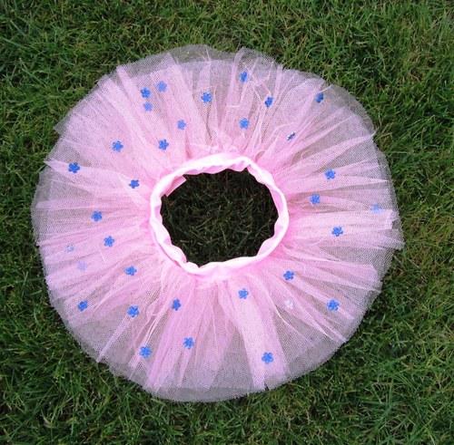 Růžová s modrými kytičkami(1-3 roky)