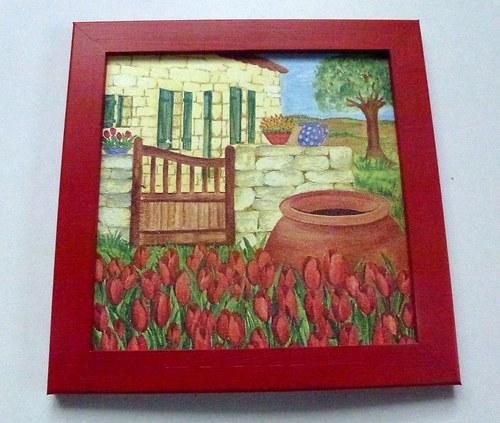 Baráček s tulipány