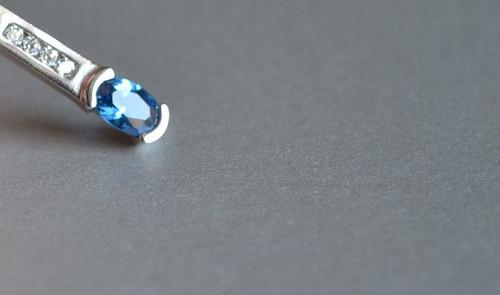 Modrá hvězda  - přívěsek Au