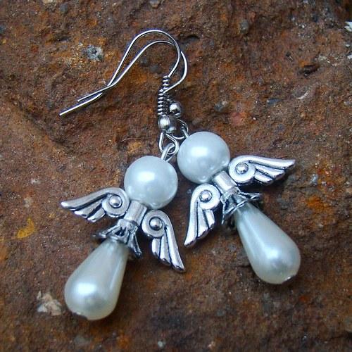 náušnice na křídlech anděla