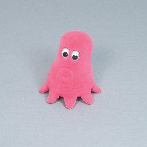 Sametová krabička na šperky - chobotnice růžová