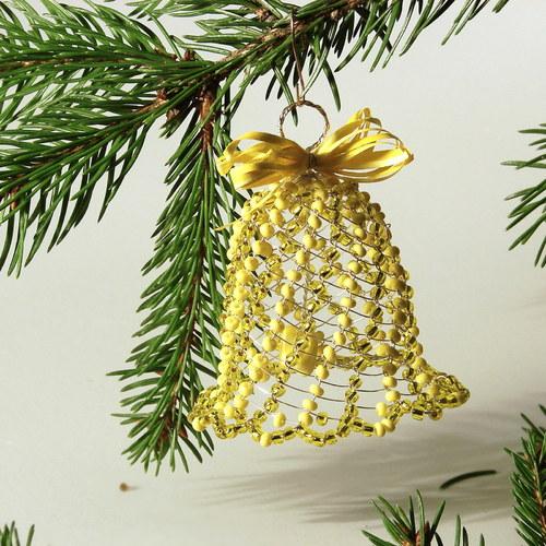 Drátované Vánoce - ve žluté