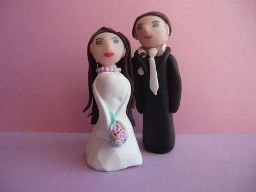 Figurky na svatební dort - nevěsta a ženich