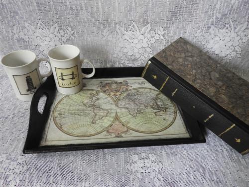 Podnos s vintage mapou - pánský