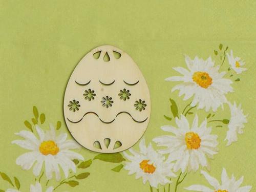 Vajíčko 6,5cm - výřez kytiček vzor č.1