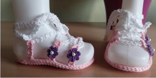 Háčkované sandálky pro holčičku :-)