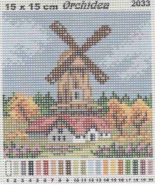 Předloha mlýn - Podzim