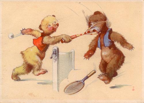 """Pohlednice \""""Nešikovní medvídci\"""""""