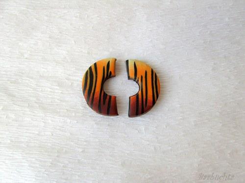 Náušnice Tygří - polodonutky
