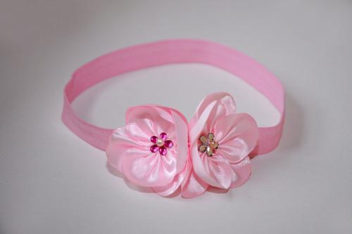 čelenka - růžová s květy