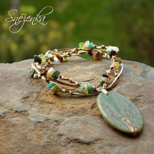 Lesní rozbřesk - přírodní náhrdelník