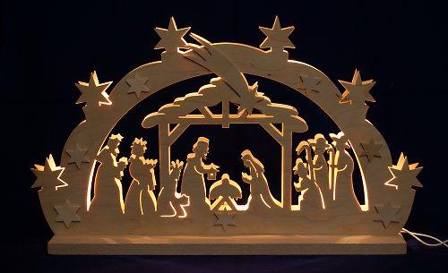 Světelný vánoční oblouk - Betlém I