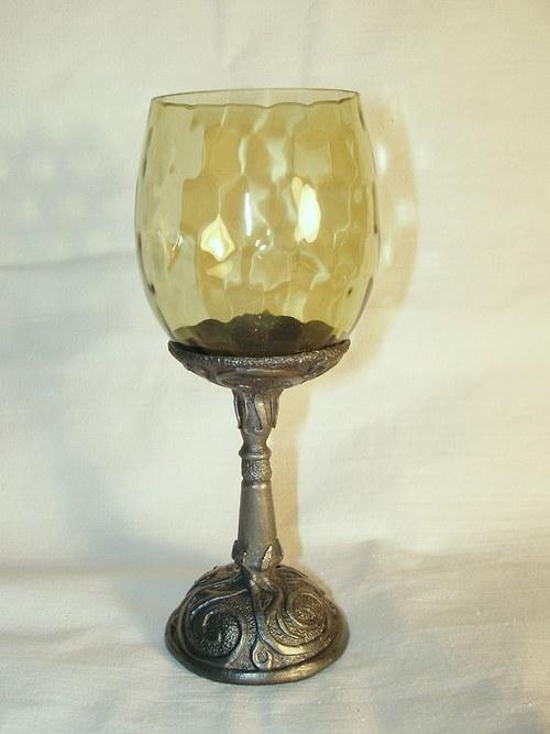sklenice na víno - keltský motiv