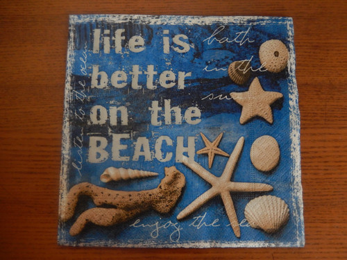 Ubrousek na decoupage - mořské motto