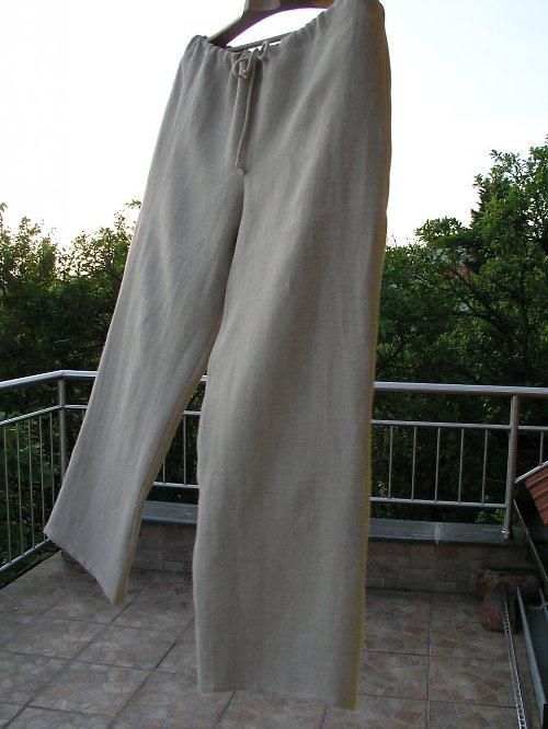 Lněné kalhoty pro pana mlynáře XL