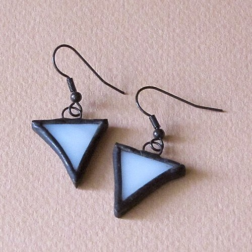 Náušničky - obrátené trojuholníčky