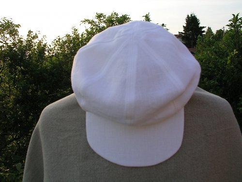 Mlynářská lněná čepice