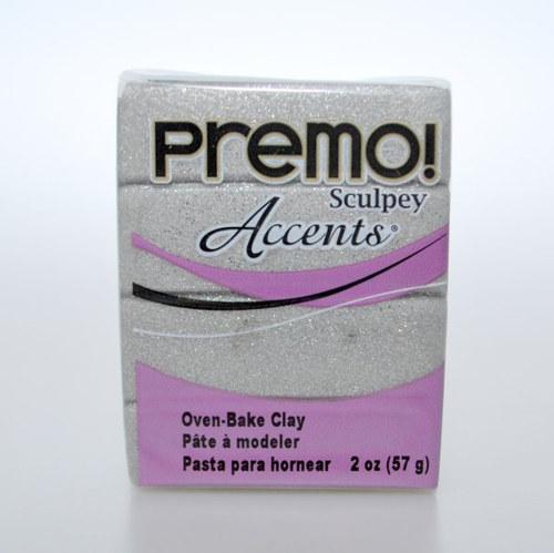 PREMO / Bílozlatá glitry (5132)