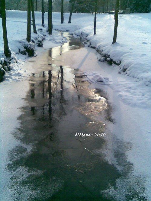 Vzpomínka na zimu - Ležácký potok