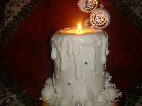 Dort vánoční svíčka