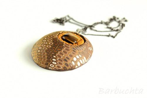 náhrdelník KLIMT s týgřím okem