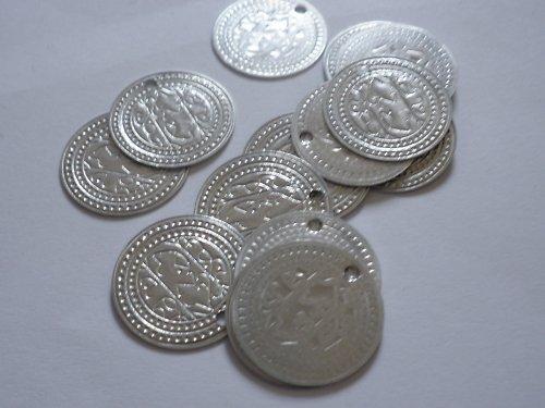 stříbrné penízky 19mm, 17 ks