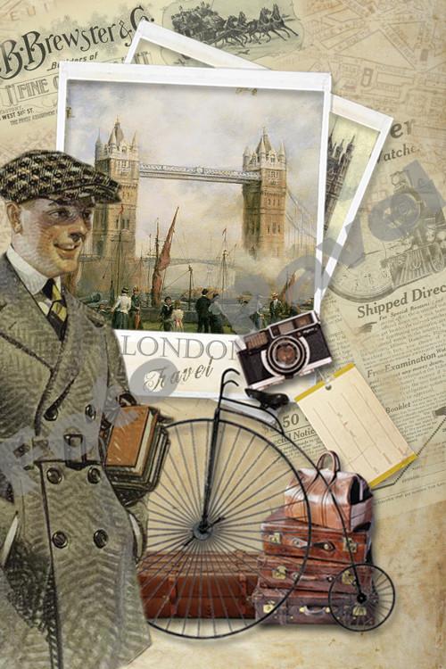 Vintage motiv - Londýn - 3