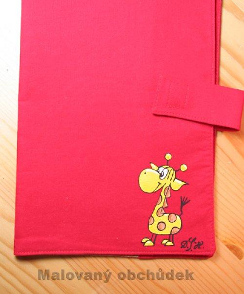 Obal na knihu s žirafou