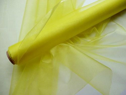 Organza žlutá neobroubená (barva č. 16)