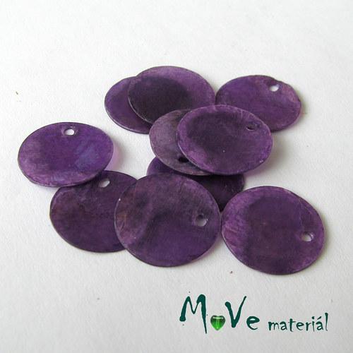 Perleťové penízky 15mm, 10ks,temně fialové