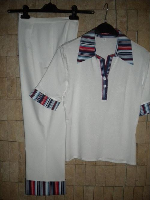 letní bílé 7/8 kalhoty - AKCE