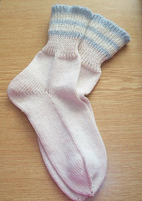 Ponožky bílé přírodní vel. 33/34