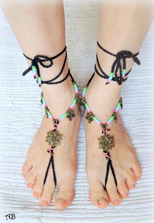 """barefoot sandálky - bosonožky \""""RAINBOW\"""""""